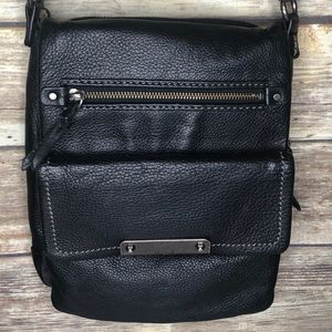 The sak leather crossbody purse bag black mailbag
